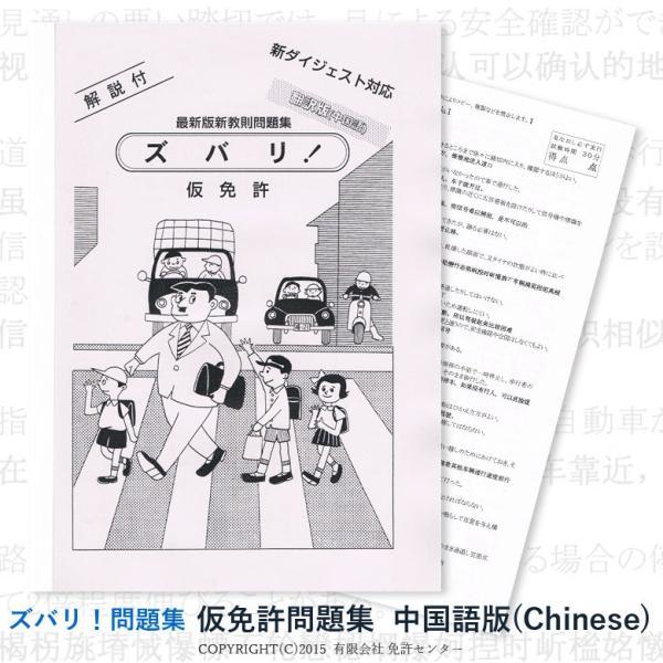 仮免許問題集 翻訳中国語版|zubarimondai