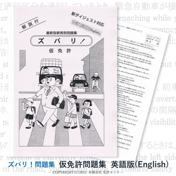 仮免許問題集 改訂翻訳英語版|zubarimondai