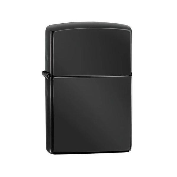 ▼ZIPPO Zippo ジッポ ジッポー #24756 EBONY エボニー ブラック ロゴなし 光沢 無地 プレーン ライター オイル たばこ タバコ アウトドア【代引き不可】