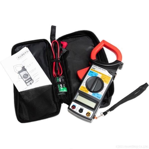 デジタルクランプメーター電圧・電流測定器高性能テスターデータホールド機能電線工事電装点検