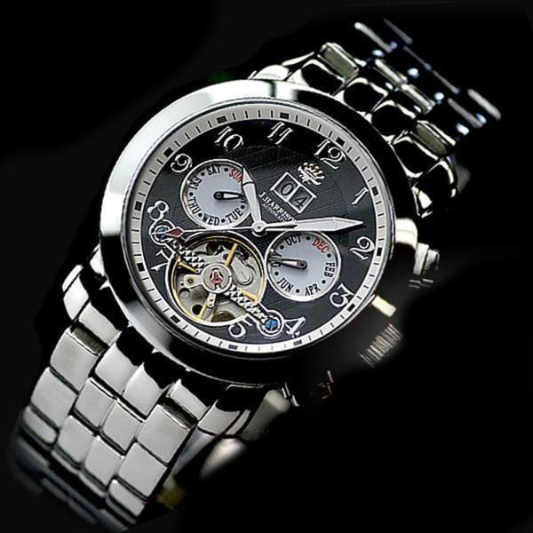 ジョンハリソン J.HARRISON 腕時計 自動巻き メンズ JH-008BW|zumi
