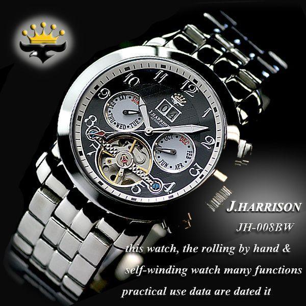 ジョンハリソン J.HARRISON 腕時計 自動巻き メンズ JH-008BW|zumi|02