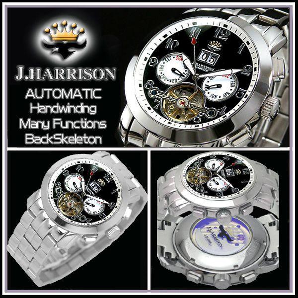 ジョンハリソン J.HARRISON 腕時計 自動巻き メンズ JH-008BW|zumi|03