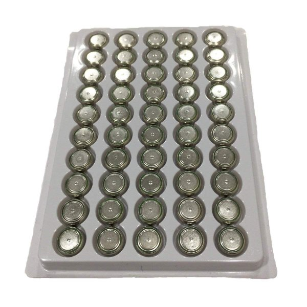 【送料無料】LR44 ボタン電池 10000個セット(50個1シートx200シート) バルクパッケージ 業務用 お徳用 組み込み