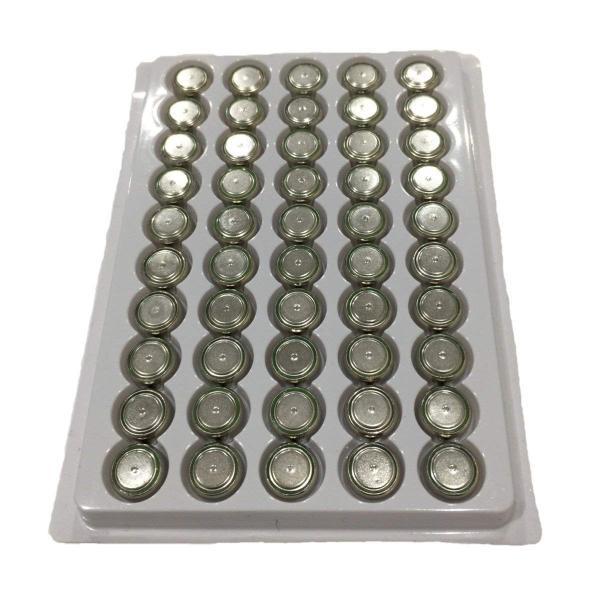 【送料無料】LR44 ボタン電池 50個セット(1シート) バルクパッケージ 業務用 お徳用 組み込み