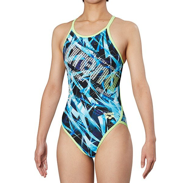 d9b74ccaffa arena レディース スーパーフライバック DIS-9305W PNK 競泳水着 ピンク アリーナ