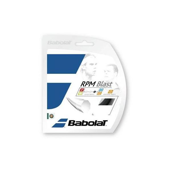 【P5倍+5%OFFクーポン】バボラ テニス アクセサリー ストリングス ガット RPMブラスト RPMBLA12M BA241101 BLK