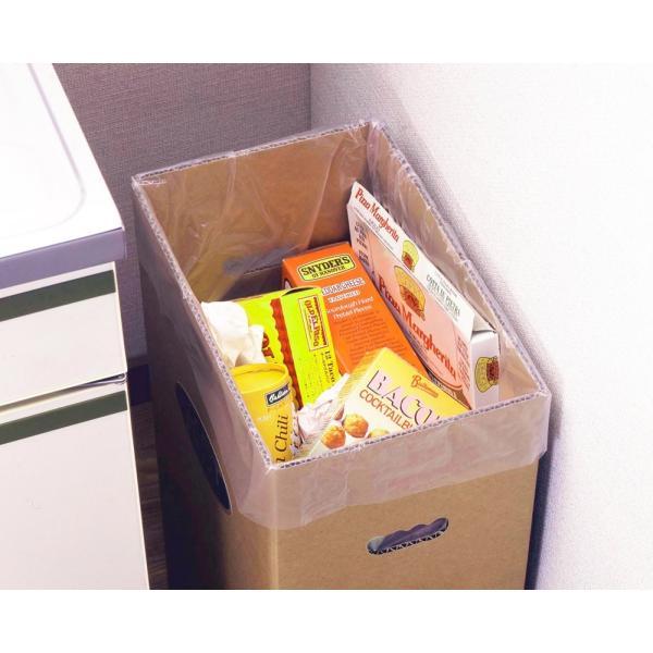 下村企販 分別 ゴミ箱 ダンボール ダストボックス 脚付き 2個組 45リットル ゴミ袋 対応 16048|zzoo|02
