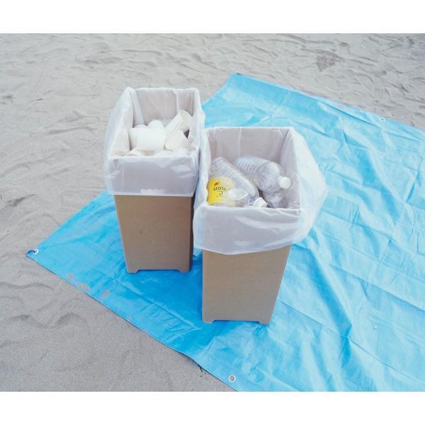 下村企販 分別 ゴミ箱 ダンボール ダストボックス 脚付き 2個組 45リットル ゴミ袋 対応 16048|zzoo|05