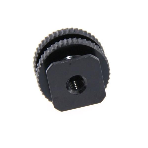 CAMVATE 多用途シューアダプター 5/8''オス&1/4''メスネジ穴付きシュー カメラ三脚用