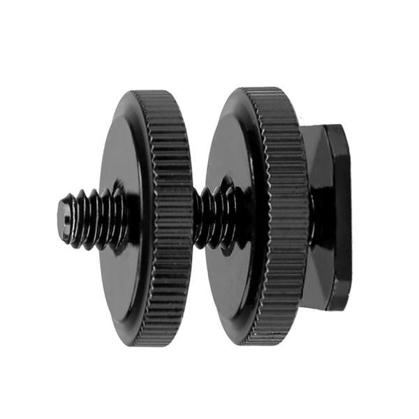 CamRebel 製 金属製 シュー ネジ マウントアダプタ ホットシュー ICレコーダー 連結可 1 / 4 ネジ カメラ シューアダプタ