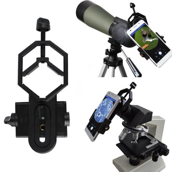 携帯電話のアダプタマウント、PEYOU スマホ横幅52-100mm+望遠鏡、単眼鏡、双眼鏡、フィールドスコープ、顕微鏡兼用外径25-48mm