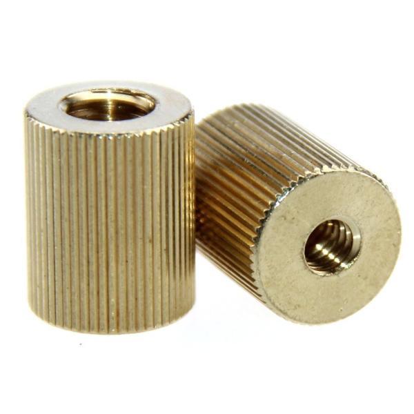 CAMVATE ネジアダプター 真鍮3/8-16''変換1/4-20''メスメスネジ 2点セット