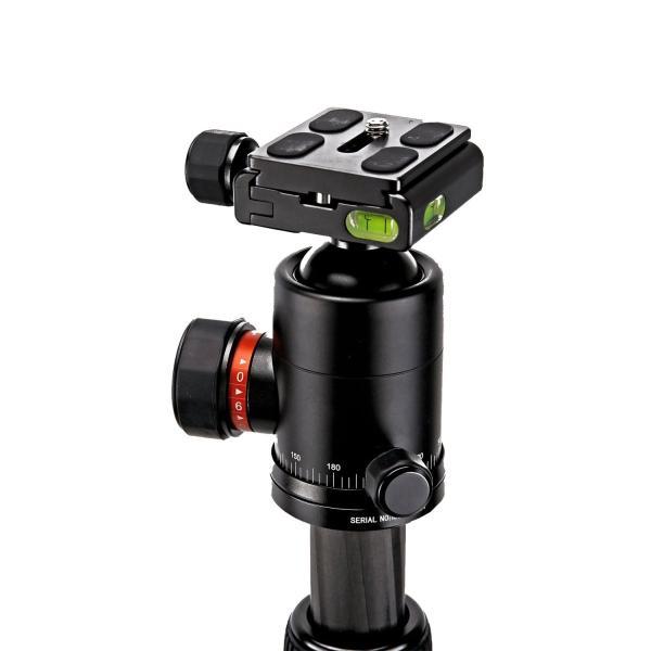 Fotopro カーボン三脚 X-6CN 4段 中型 (28mm) 自由雲台 ケース付 815781