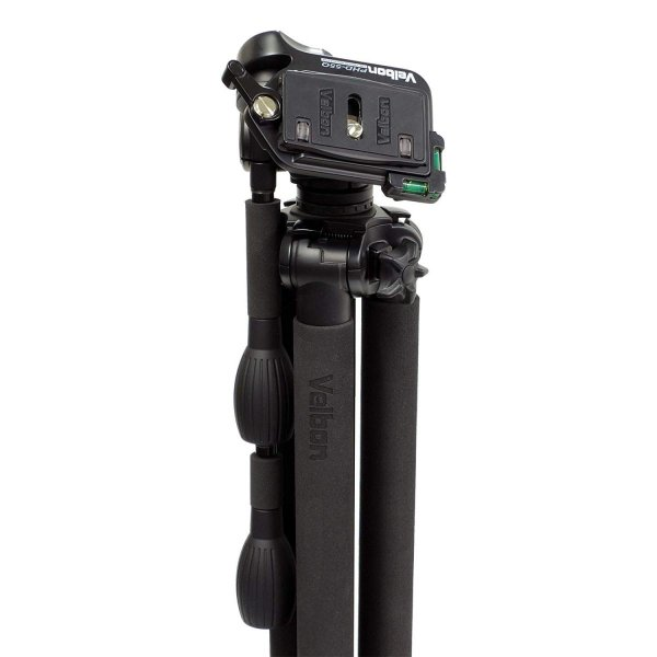 Velbon 三脚 Geo Carmagne N545M II 4段 ナットロック 脚径25mm 中型 3Way雲台 クイックシュー対応 カ