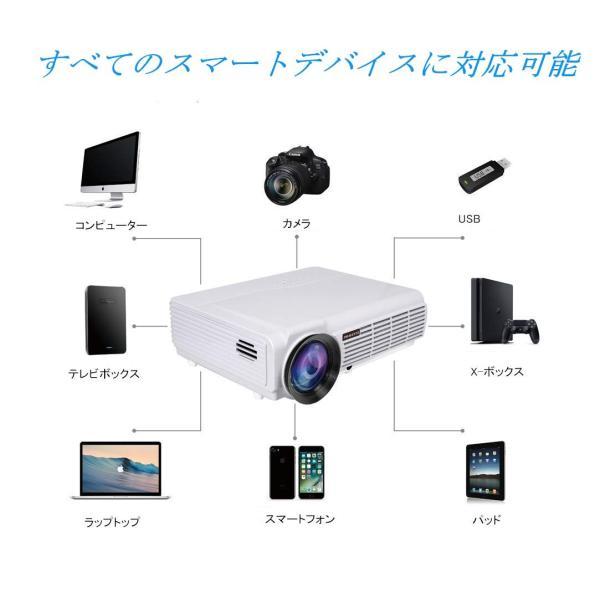 ミニプロジェクター 3500ルーメン 1080フルHDビデオ1280*768解像度 プロジェクター 小型 HDMIケーブル付属 アウトドアL