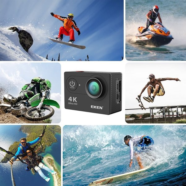 EKEN H9R「進化版」 4k アクションカメラ 2000万画素 4K30 2.7K30 1080p60 720p120 高画質 30M防