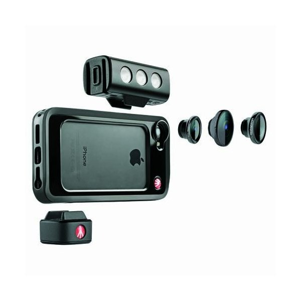 Manfrotto KLYP+ iPhone5/5S用バンパー/LEDキット/3枚レンズセット MKLOKLYP5S