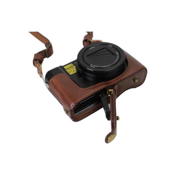 kinokoo Panasonic コンパクトデジタルカメラ ルミックス LX9 専用カメラケース カメラバッグ PUレザー 全面保護型 三
