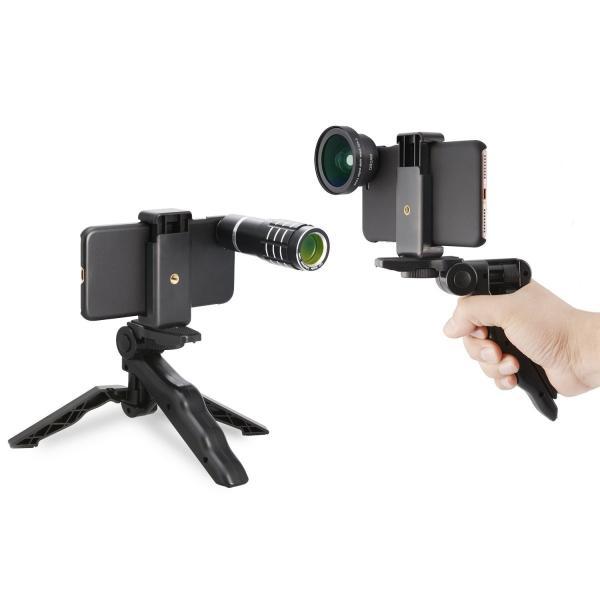 MY MIRACLE 3in1レンズキット 12倍望遠 0.45X広角レンズ マクロレンズ 簡単装着 iphone6/6s/6plus/6s