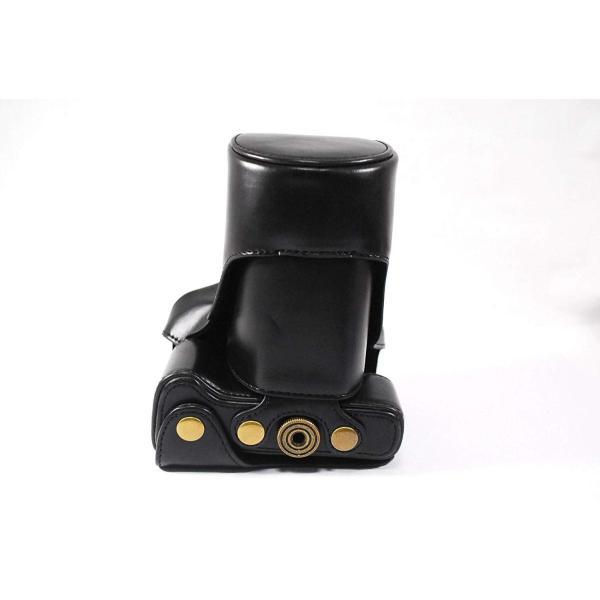 Canon EOS M3 専用 高級合皮レザー カメラケース ネックストラップ,クリーニングクロス付き Etimオリジナル商品キャノン イオ