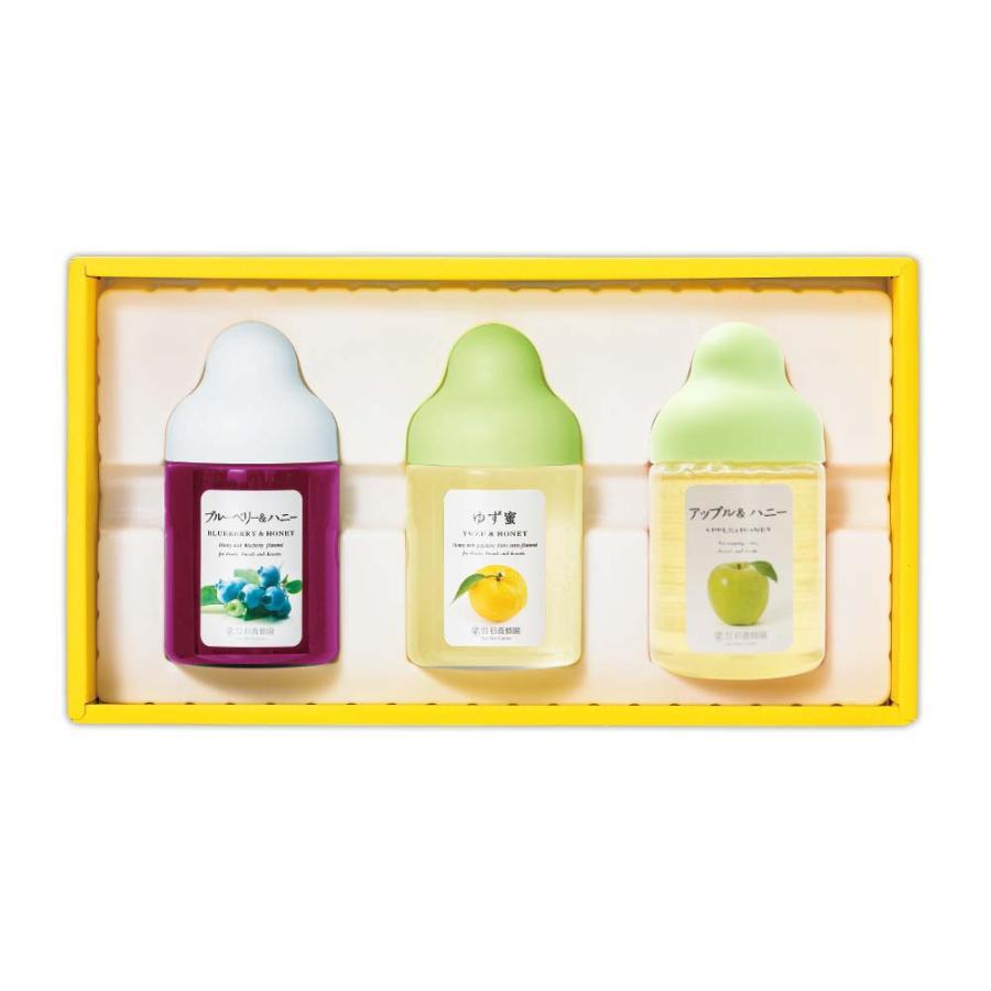 果汁蜜3本ギフトセット 格安店 高額売筋 ゆず蜜 アップル ブルーベリー Q3P