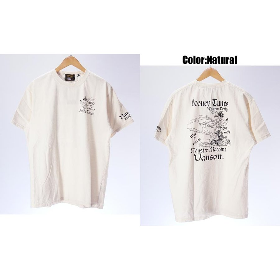 バンソン ルーニーテューンズコラボ メンズ VANSON Tom and Jerry ltv-916 半袖Tシャツ