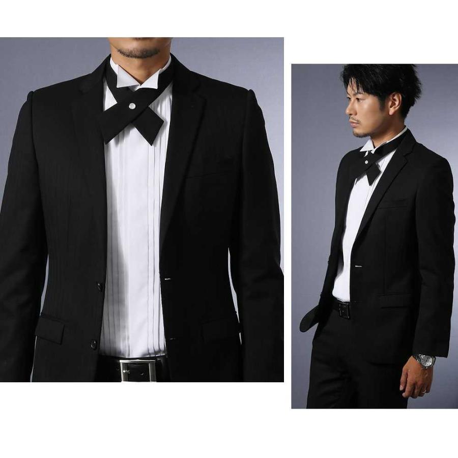 ワイシャツ ウィングカラー メンズ クロスタイ付 フォーマル 長袖 結婚式 パーティ 形態安定 スリム|0306|06