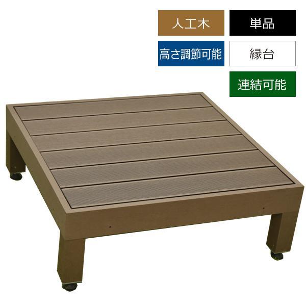 ウッドデッキ 完売 人工木 タイムセール 縁台 0.25坪 単品 カルパティアIII ダークブラウン 樹脂