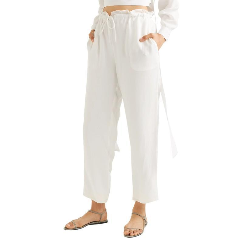 SALLY LAPOINTE テーパードパンツ ファッション  レディースファッション  ボトムス  テーパードパンツ ホワイト 1440 03