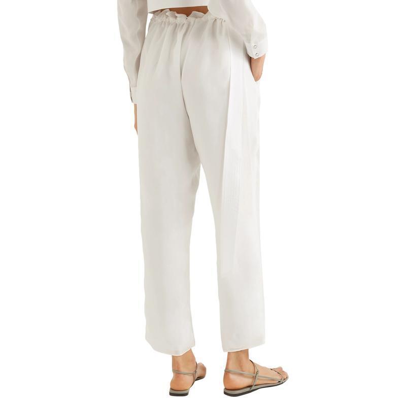 SALLY LAPOINTE テーパードパンツ ファッション  レディースファッション  ボトムス  テーパードパンツ ホワイト 1440 04