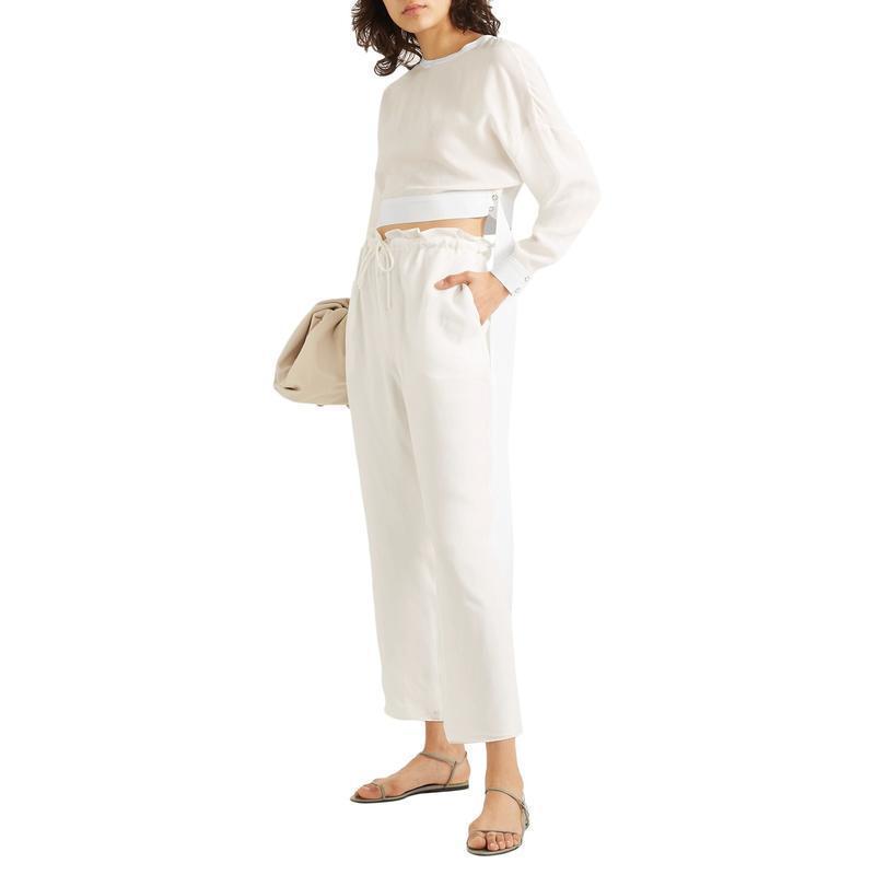 SALLY LAPOINTE テーパードパンツ ファッション  レディースファッション  ボトムス  テーパードパンツ ホワイト 1440 05