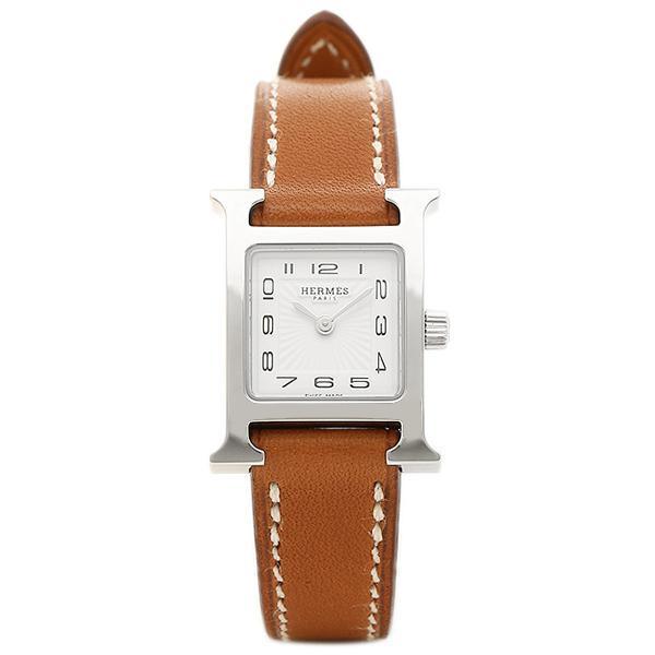 登場! エルメス 腕時計 ミニ HERMES HH1.110.131/VBA ホワイト W037961WW00 ブラウン Hウォッチ ミニ ブラウン レディース ホワイト シルバー, 良質 :2d2b71a2 --- airmodconsu.dominiotemporario.com
