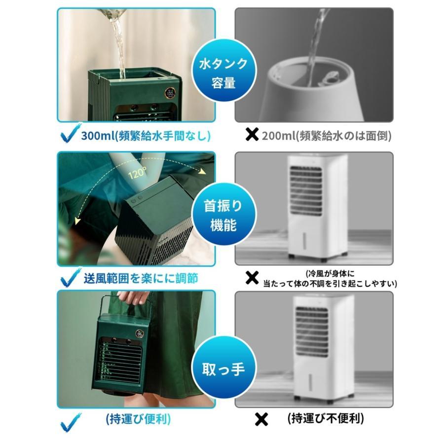 1年保証 冷風扇 充電式 扇風機 首振り ミニ冷風機 小型 卓上冷風機 加湿器 コンパクト 静音 ミニクーラー 夏 3段階風量調節 角度調整可能 熱中症対策 LEDライト 1kselect-y1 17