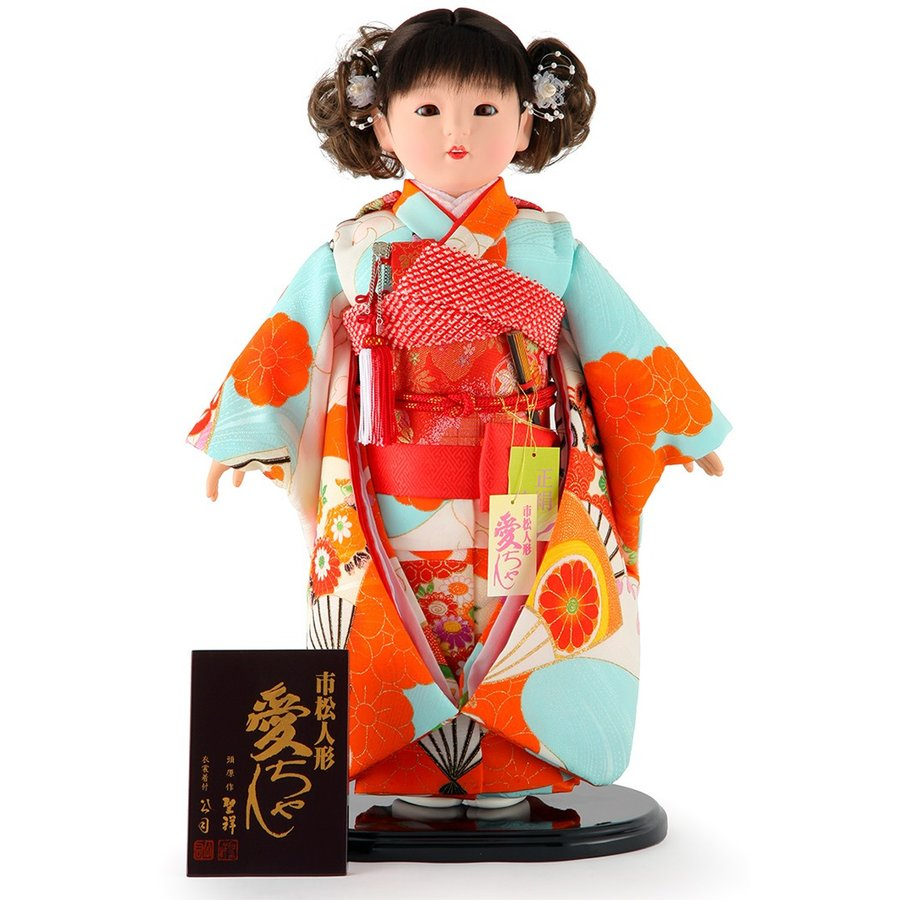 雛人形 ひな人形 市松人形 童人形 人形単品 熊倉聖祥原作 着付公司 愛ちゃん 13号 正絹 kj-130210-125ao
