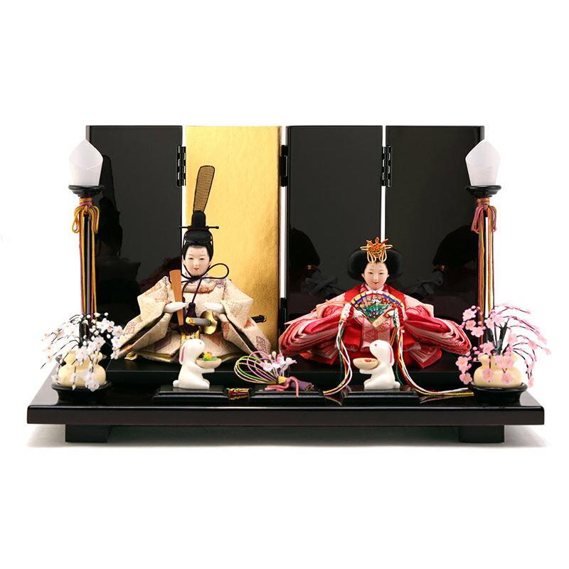 雛人形 飾り方 コンパクト おしゃれ 親王飾り 雅泉作 雛爛漫 h293-fzcp-47st10 人形 平飾り コンパクト モダン インテリア かわいい ひな人形 小さい