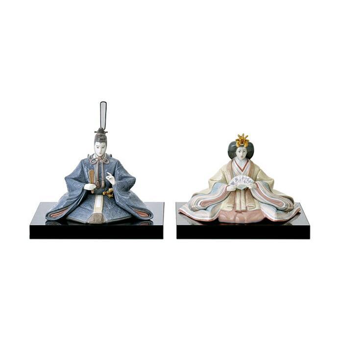 リヤドロ 雛人形 Lladro ひな人形 雛 親王飾り 本体のみ 台座付 h313-01008049-50