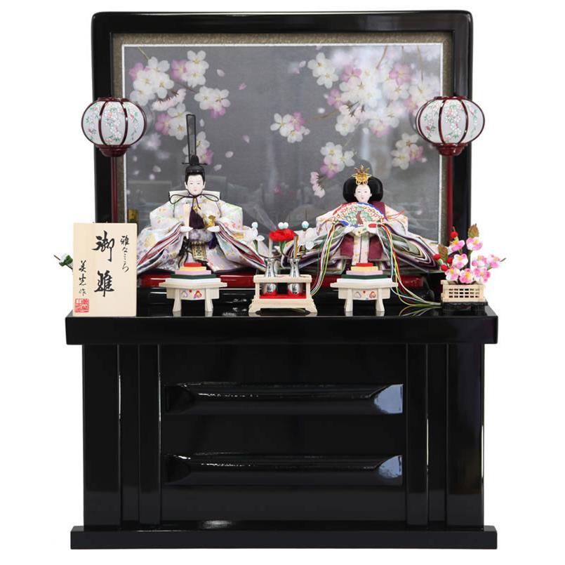 雛人形 ひな人形 収納飾り 親王飾り 雅なこころ 夜桜 h243-sb-s-yozakur