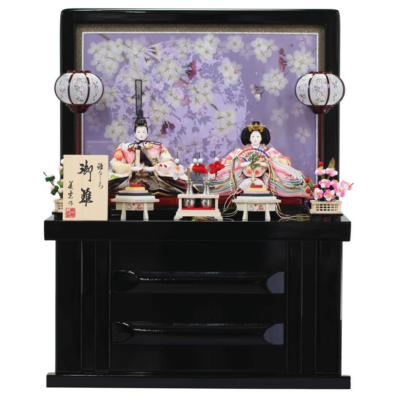雛人形 ひな人形 収納飾り 親王飾り 雅なこころ 和紙桜 h243-sb-washi-s