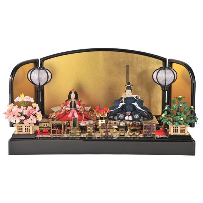 雛人形 ひな人形 親王飾り 平飾り 京雛 賀茂雛 雲立湧セット h243-tn-034131