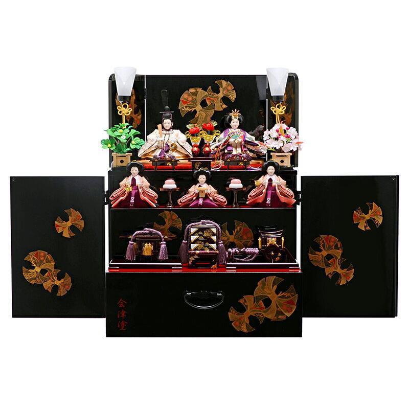 雛人形 ひな人形 三段飾り 収納飾り 五人飾り h253-fz-43ss1382