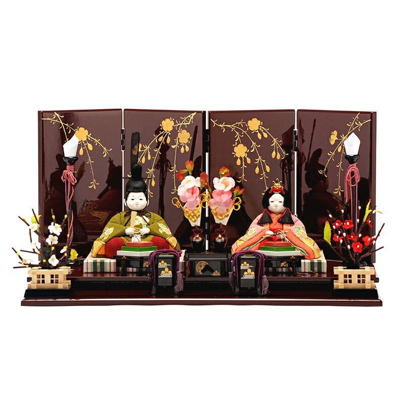 ひな人形 雛人形 親王飾り 平飾り 木目込み h263-ed-9a-3432