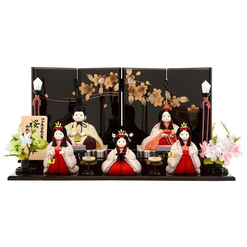 ひな人形 雛人形 木目込み 五人飾り 平飾り h263-ed-9a-3450
