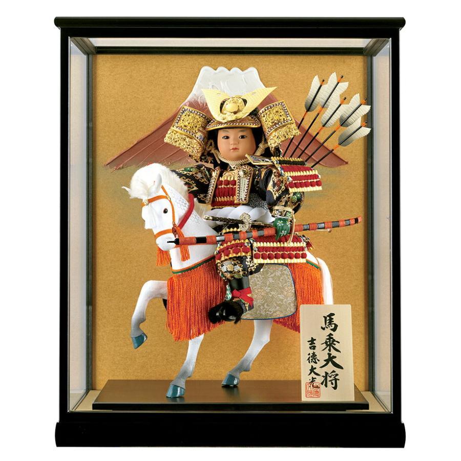 子供大将飾り 武者人形 ケース飾り 7号 馬乗大将