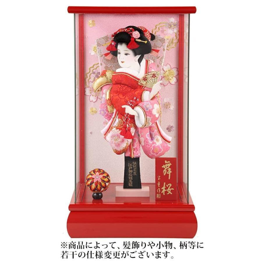 ケース飾り パノラマ舞桜 赤 10号