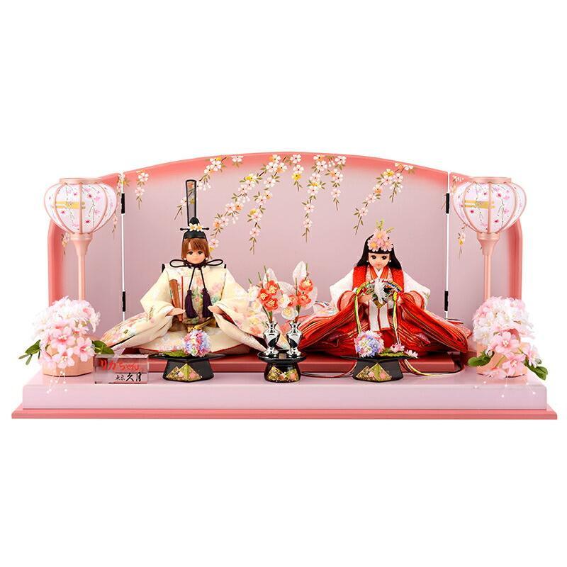 納得できる割引 親王飾り h273-k-ri-2715 雛人形 シリアル付 リカちゃん ひな人形 平飾り 久月-季節玩具