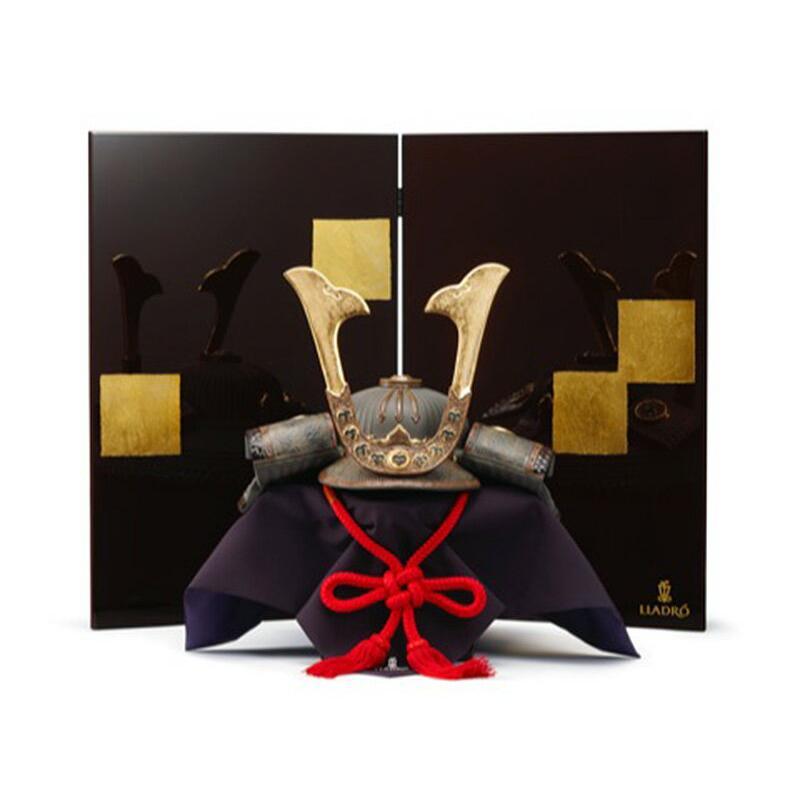 リヤドロ 五月人形 兜平飾り 兜飾り Lladro Kabuto リヤドロの兜 バックボード付 限定3500体 h315-01013041-bs