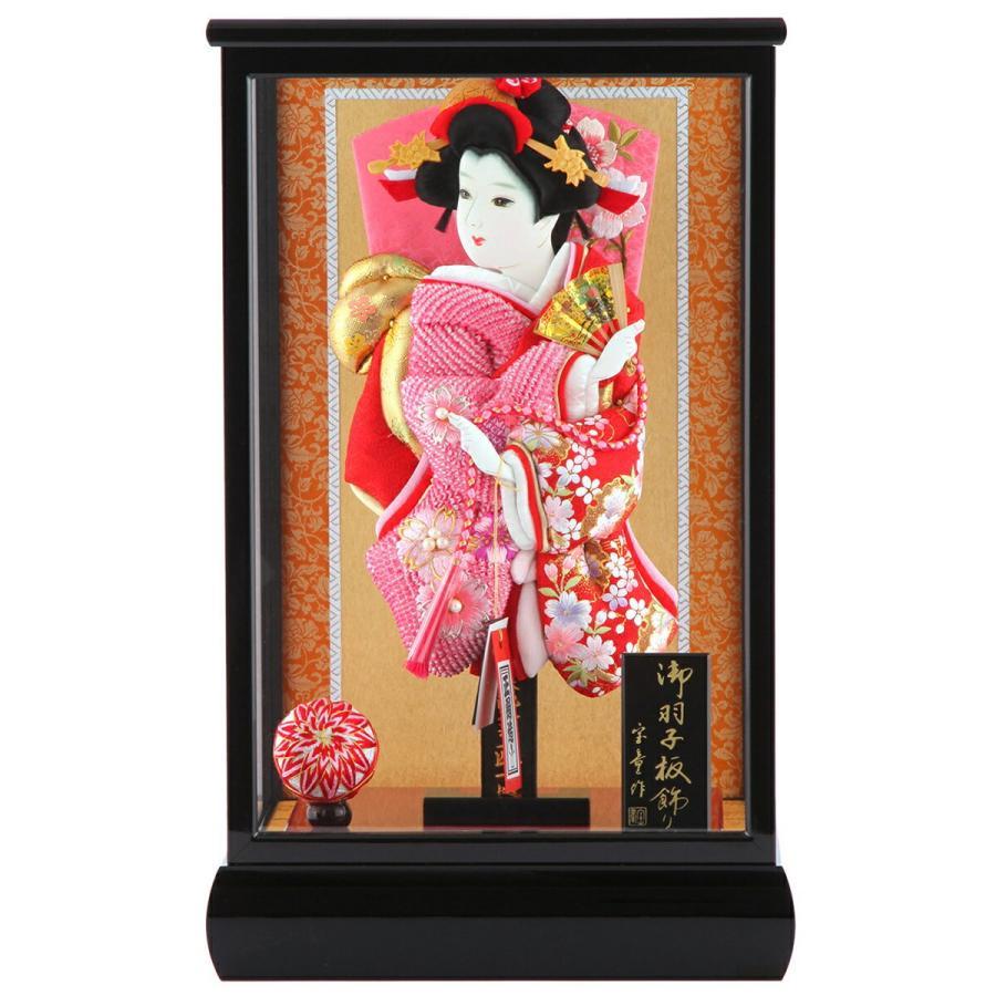 ケース飾り 正絹造り 小雪輪枝桜 赤 10号