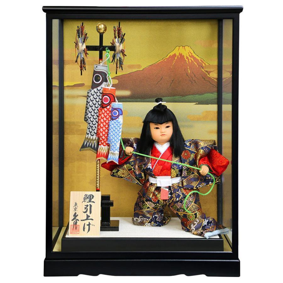 ケース飾り 武者人形 鯉引上げ 8号 都83
