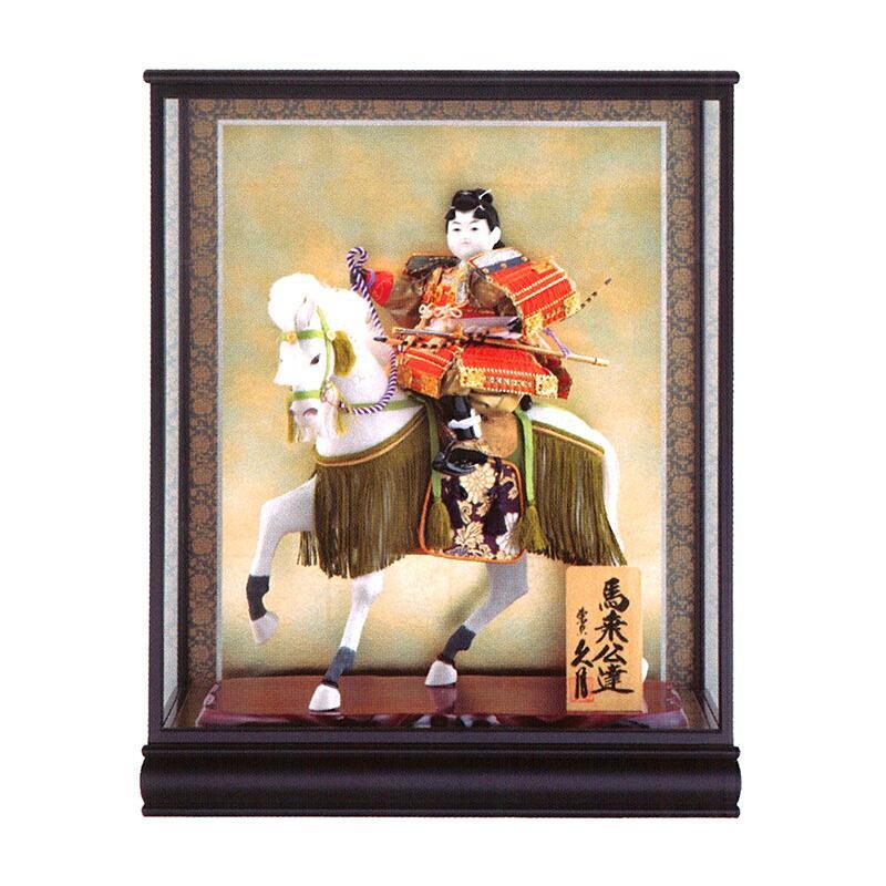 ケース飾り 武者人形 馬乗公達 8号 桂印8